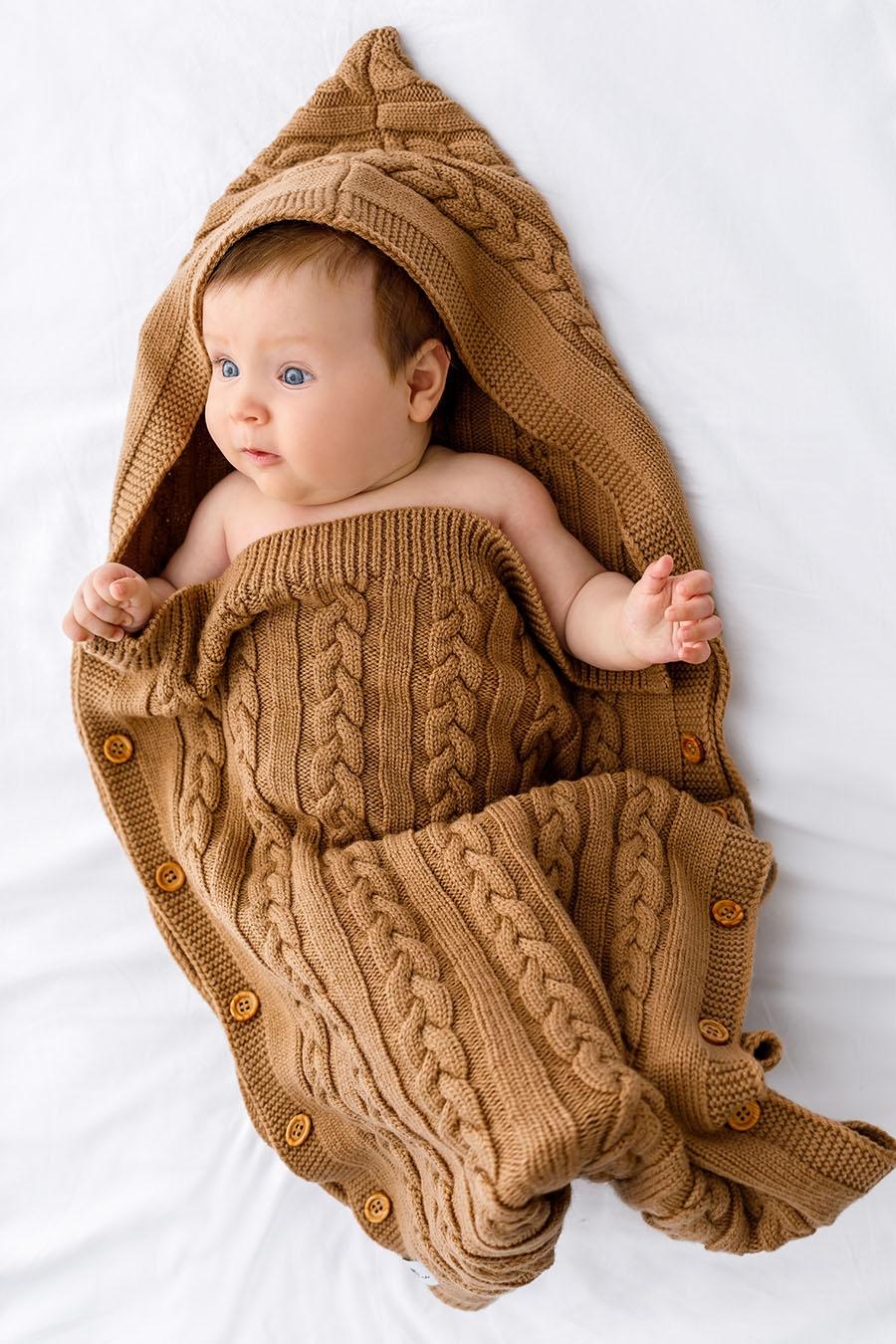 Baby Sleeping Bag Cocoon Knitted Pure Wool Merino