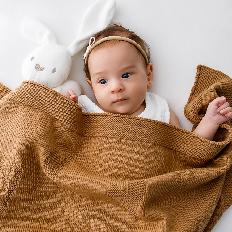 wool blanket pure love camel 01 square
