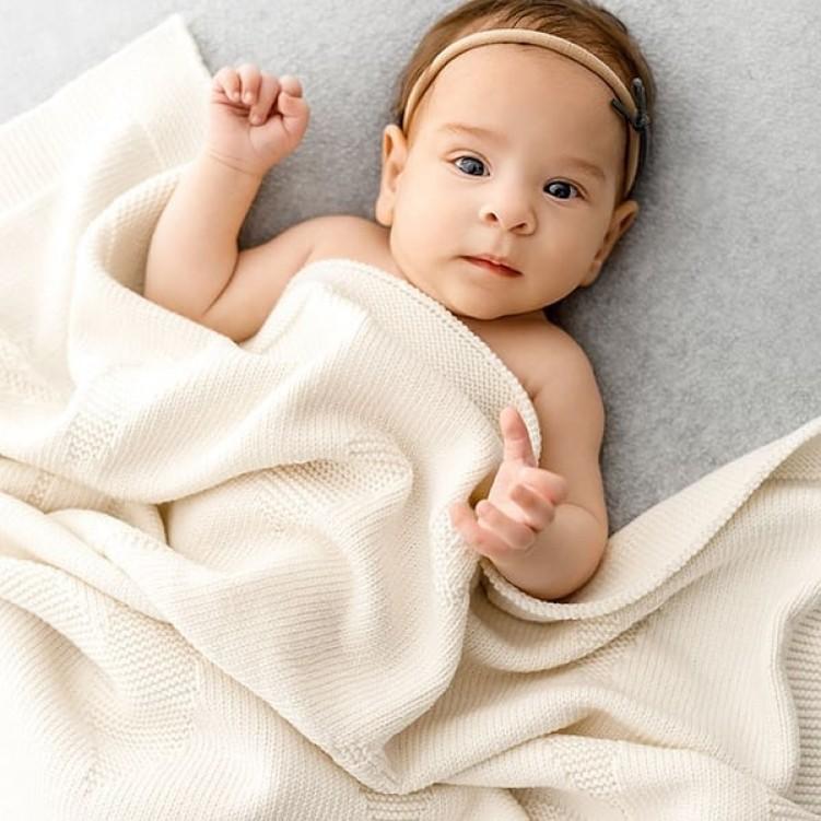 woolen blanket pure love cream