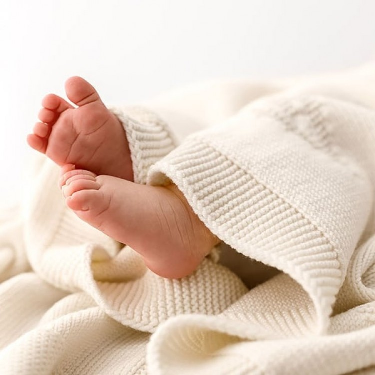 woolen blanket pure love cream 01